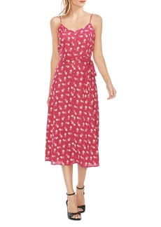 VINCE CAMUTO Belted Floral Cami Dress