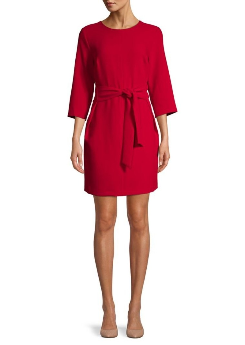 Vince Camuto Belted-Front Mini Dress