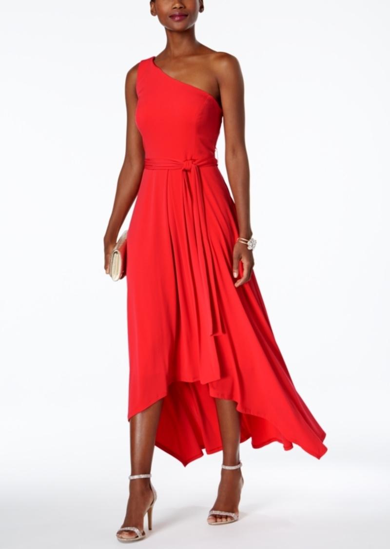 Vince Camuto Vince Camuto Belted One-Shoulder Maxi Dress | Dresses