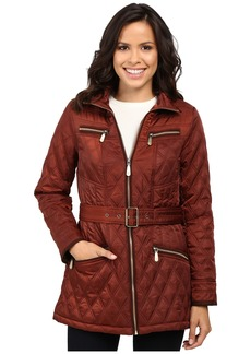 Vince Camuto Belted Quilted Jacket L8101