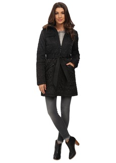 Vince Camuto Belted Quilted Long Jacket J1641