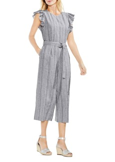 VINCE CAMUTO Belted Ruffle Jumpsuit