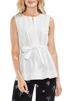 Vince Camuto Belted Sleeveless Blouse