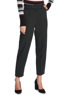 Vince Camuto Belted Stretch-Crepe Pants