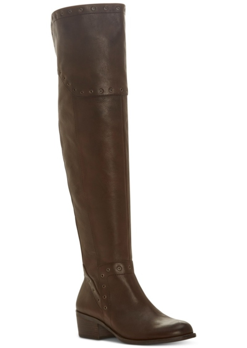 024686c42ce4 Vince Camuto Bestan Wide-Calf Grommet Over-The-Knee Boots Women s Shoes