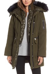 Vince Camuto Bib Insert Down & Feather Fill Coat