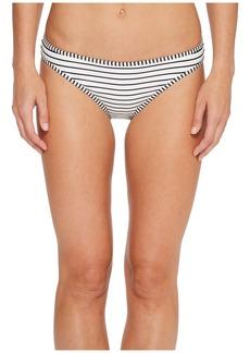 Vince Camuto Blossom Stripes Contrast Binding Bikini Bottoms