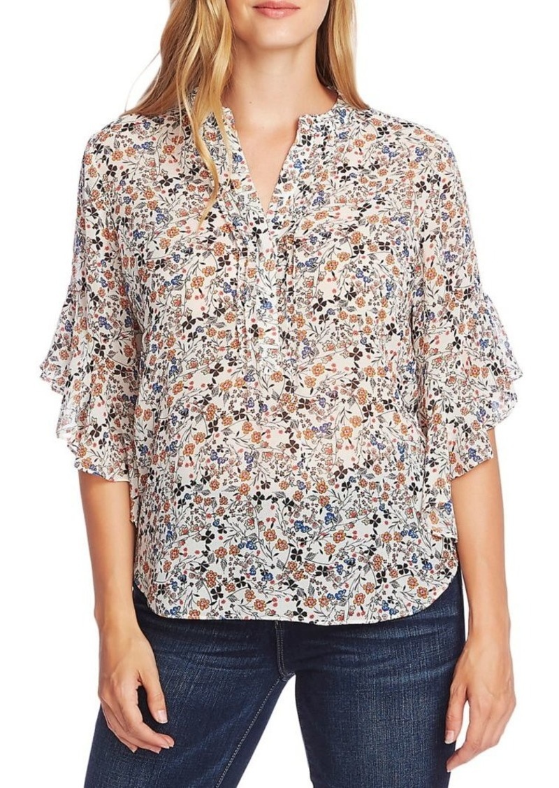 Vince Camuto Bohemian Calico Blouse
