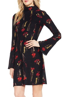 Vince Camuto Botanical Flared Sleeve Dress