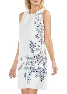 Vince Camuto Botanical Floral Sleeveless Shift Dress