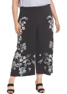 Vince Camuto Botanical Wide Leg Pants (Plus Size)