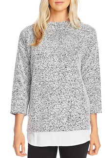 VINCE CAMUTO Boucl� Shirttail Top