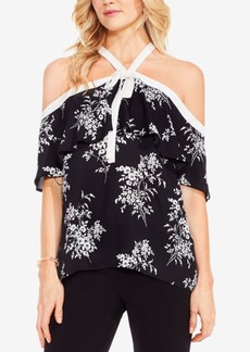 Vince Camuto Bouquet Printed Off-The-Shoulder Top