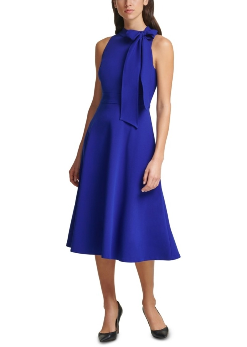 Vince Camuto Bow-Neck Midi Dress