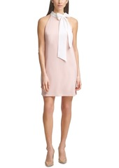 Vince Camuto Bow-Neck Shift Dress