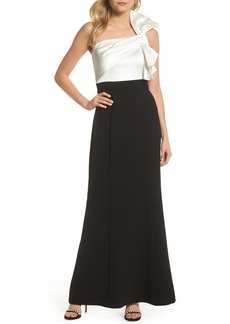 Vince Camuto Bow One-Shoulder Gown