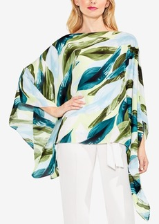 Vince Camuto Breezy Leaves Printed Poncho Top