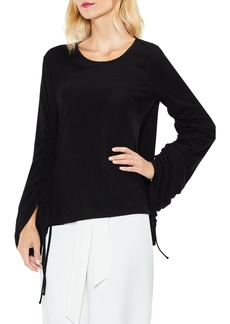 Vince Camuto Brushed Jersey Ruched Sleeve Top