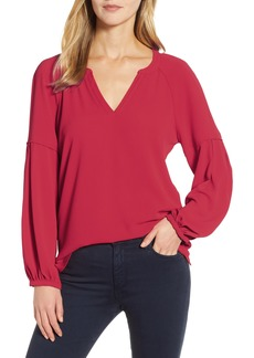 Vince Camuto Bubble Sleeve Crepe Blouse (Regular & Petite)