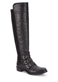 Vince Camuto Jayce Buckled Leather Tall Shaft Boots