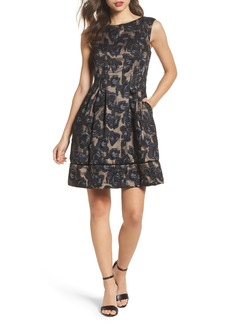 Vince Camuto Burnout Fit & Flare Dress (Regular & Petite)