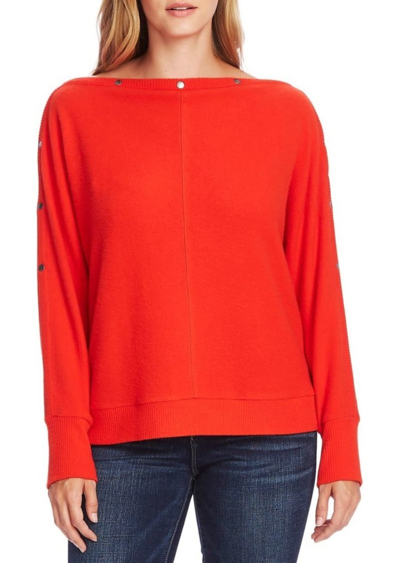 Vince Camuto Button Dolman-Sleeve Knit Top