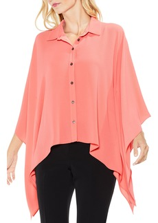 Vince Camuto Button Down Collared Poncho