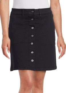 Vince Camuto Button Front Mini Skirt