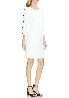 Vince Camuto Button Sleeve Sheath Dress