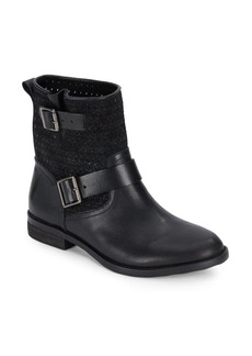 Vince Camuto Cahya Woven Moto Booties