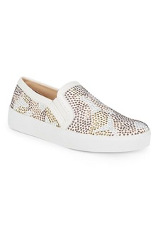 Canitia Embellished Leather Sneakers
