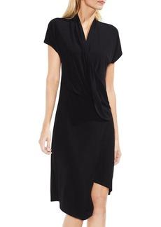 Vince Camuto Cap-Sleeve Drape Dress