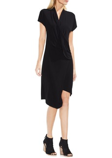 Vince Camuto Cap Sleeve Drape Front Dress