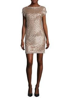Vince Camuto Sequin Cap Sleeve Sheath Dress