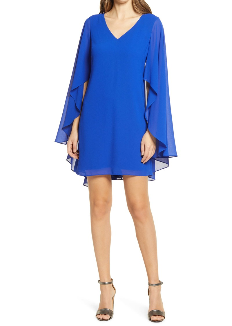 Vince Camuto Cape Back Float Cocktail Dress