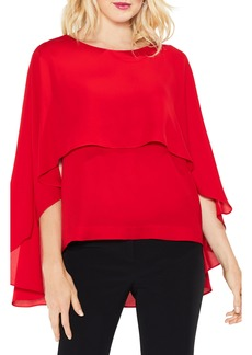 Vince Camuto Cape Overlay Blouse