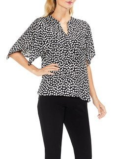Vince Camuto Cape Overlay Flutter Top