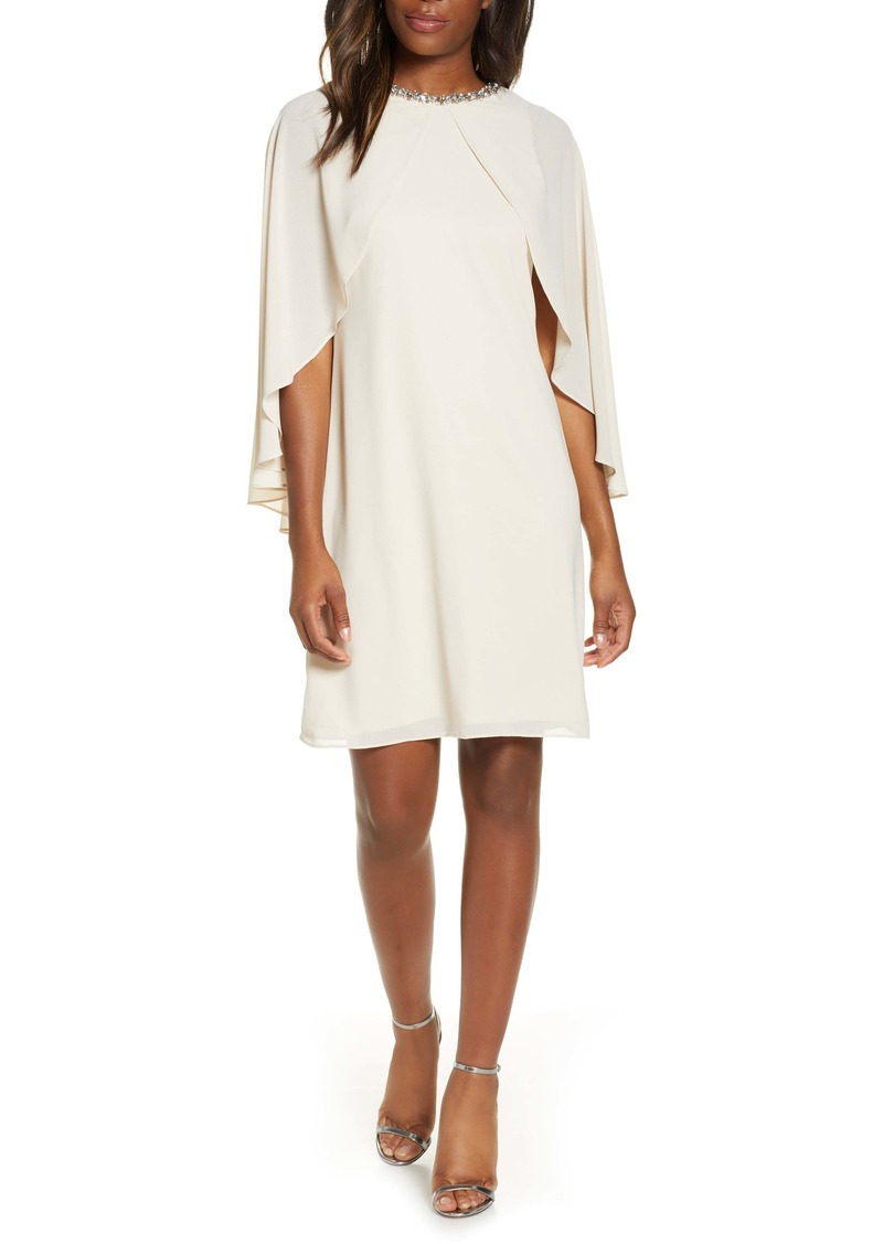 Vince Camuto Cape Souffle Shift Dress