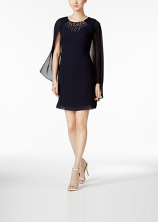 Vince Camuto Capelet Sequined Sheath Dress