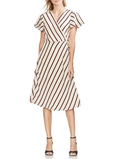 Vince Camuto Caravan Stripe Wrap Dress