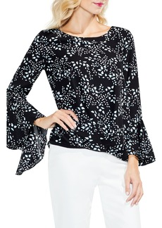 Vince Camuto Cascading Leaves Bell Sleeve Blouse