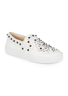 Vince Camuto Casintia Studded Leather Sneakers