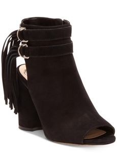 Vince Camuto Catinka Fringe Booties Women's Shoes