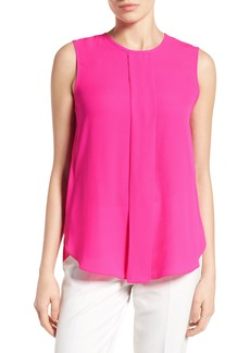 Vince Camuto Center Pleat Sleeveless Blouse