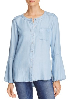 VINCE CAMUTO Chambray Bell Sleeve Top