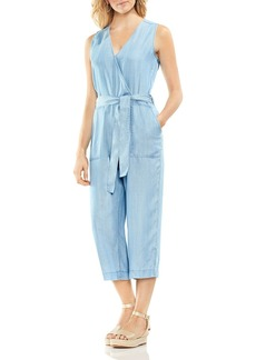 VINCE CAMUTO Chambray Cropped Jumpsuit