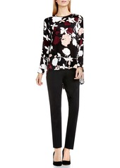 Vince Camuto 'Chapel Rose' Print High/Low Blouse