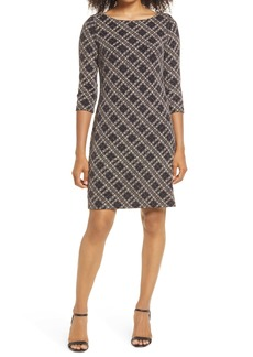 Vince Camuto Check Metallic Dress
