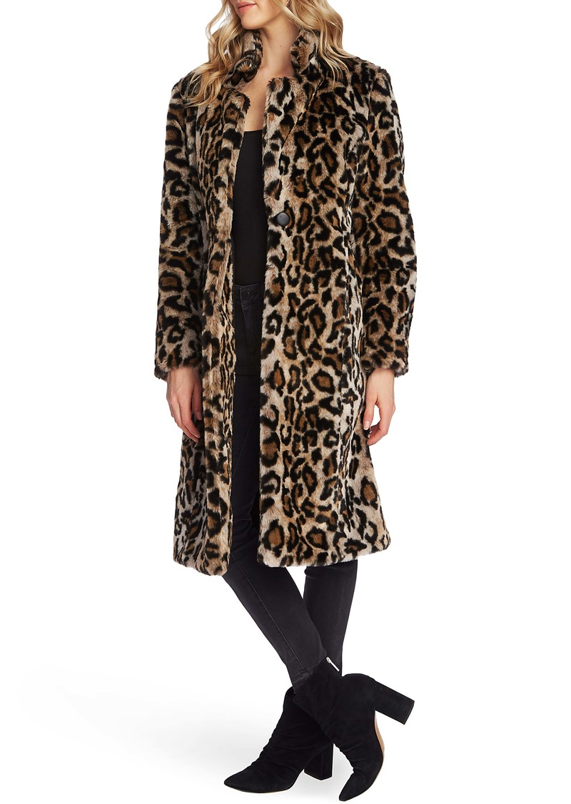 Vince Camuto Cheetah Faux Fur Coat