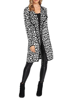 VINCE CAMUTO Cheetah Open Duster Cardigan